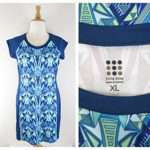 Title Nine Blue Green Athletic Active Dress XL